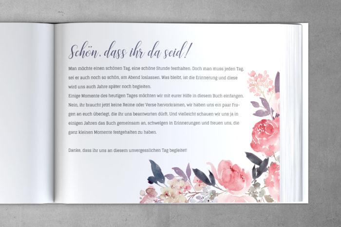 Einleitung Gästebuch Peony