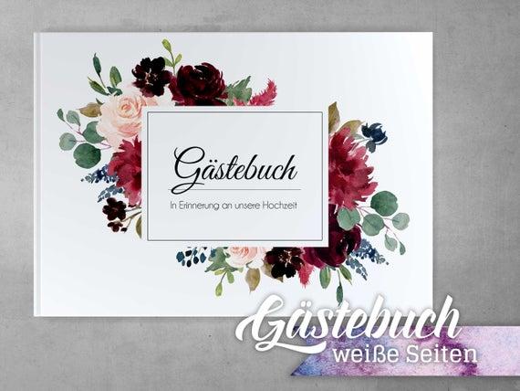 Cover Gästebuch Bordeaux Blau