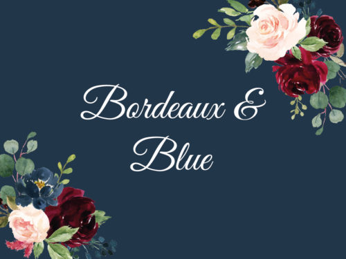 Bordeaux & Blue