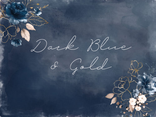 Dark Blue & Gold