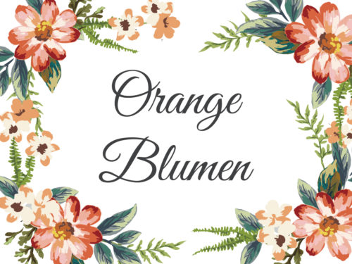 Orange Blumen Aquarell