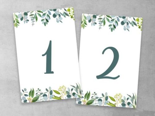 Produktbild Tischnummer Eukalyptus Green